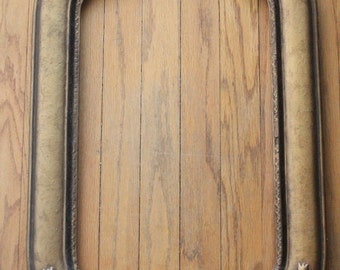Antique 1910/1920's Art Nouveau Velvet and Gold Gesso Wooden Frame