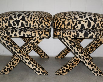 Leopard X Bench By Livenupdesign On Etsy