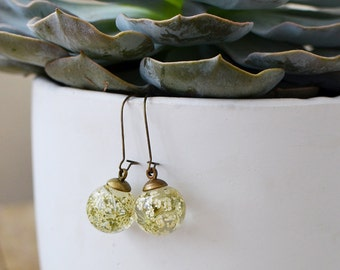 flower earrings nature inspired jewelry, queens anne's lace, gift for her, gift under 40 nature lover gift