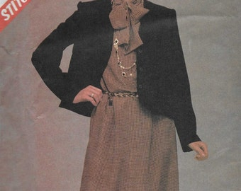 McCalls 8743 Women's 80s Jacket & Dress Sewing Pattern Bust 36 38