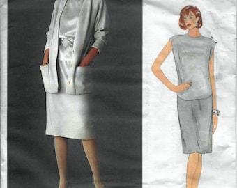 Vogue American Designer 1147 Anne Klein Jacket Skirt & Top Sewing Pattern Size 12 Bust 34