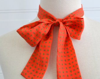 1980s Red Silk Tie Scarf