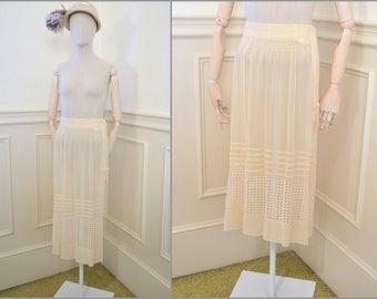 1920s Cream Sheer Skirt