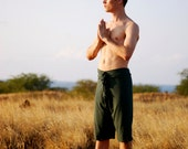 Men's Yoga Shorts - Long Shorts -  Eco Friendly Jersey - Organic Clothing