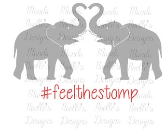 Alabama Elephants Hashtag Feel The Stomp and Rammer Jammer SVG or Silhouette Instant Download