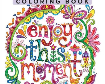 Adult Coloring Book - Design Originals Good Vibes Coloring Book - Adult Coloring Designs - Cheerful Images Coloring Pages
