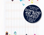2016/17 Academic Wall Planner Calendar Printable PDF file