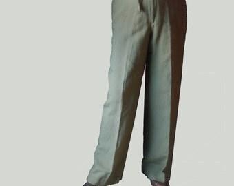 Vintage 90s dress pants, Liz Claiborne, Linen/Rayon Straight Leg Pants, Size 12