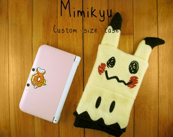 Mimikyu Pokemon Nintendo 3ds/Custom Size pouch fleece camera carrying case 3ds / DSi / ds Lite / 3ds xl / psp holder