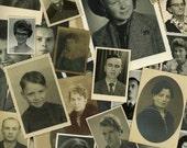 """50 pc - Vintage Photos """"Portrait Collection"""" Old Photo Antique Black & White Photography Paper Ephemera - 041615"""