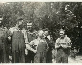"Vintage Photo ""Goofy Farmers"" Snapshot Antique Photo Old Black & White Photograph Found Paper Ephemera Vernacular - 57"
