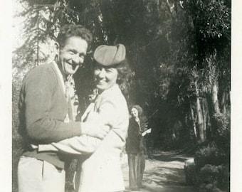 "Vintage Photo ""All Smiles"" Cute Couple Love Women Snapshot Photo Old Antique Black & White Photograph Found Paper Ephemera Vernacular - 16"
