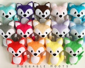 Stuffed Fox (YOUR choice of COLOR) - Plush Fox - Fox Toy - Stuffed Animal - Woodland - Personalized Animal - Birth Announcement - Soft Toy