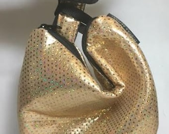 Gold Wristlet, Gold evening bag, Gold purse, dapperday, Retro Evening Bag, Vintage Style bag, Rockabilly Purse, Goth Purse,  RWP11X8B-Celtic