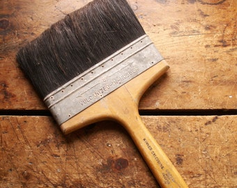 Vintage Extra Large Paint Brush - Industrial Decor