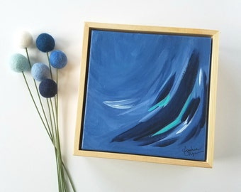 blue decor blue nursery canvas abstract art dark blue decorations blue accents