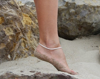 Sterling silver anklet, silver discs ankle bracelet, coin anklet, beach jewelry anklets, adjustable anklet, boho bohemian body jewelry