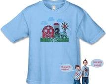 Farm Birthday Shirt - Personalized Birthday Shirts - 1st, 2nd, 3rd (use your birthday number) Birthday Shirt - Little Farm Birthday Party