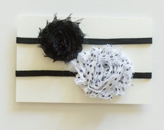 Flower Headband | Baby Flower Headband | Black Flower Headband | Newborn Headband | Sweet Ivie Headband