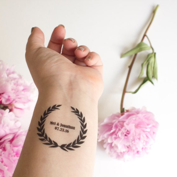Laurel Wreath Temporary Tattoos Laurel Design Wedding