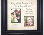 Personalized Father of the Bride, Picture Frame Gift, Father Daughter Gift, Dad Gift for Parents of the Bride, Today a Bride,  16 X 16
