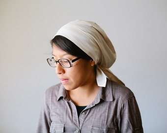 Natural Muslin Snood Headcovering | Women's Headcovering Veil