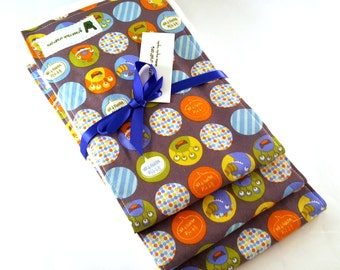 Baby Boy Burp Cloth Set - Monsters