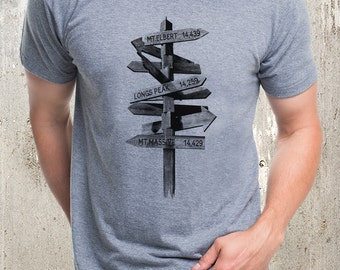 Men's Trail Signs  T-Shirt - Men's Tri Blend T-Shirt  - American Apparel Men's T-Shirt - Available in S, M, L, XL and 2XL