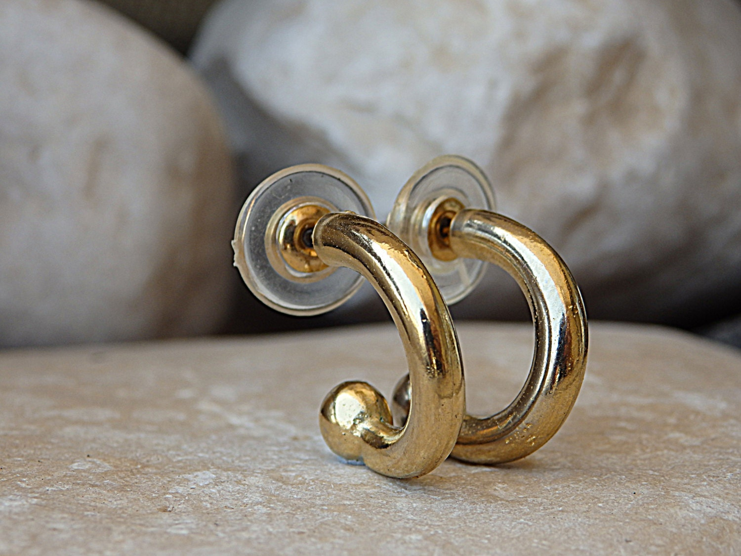 half hoops earrings gold hoop earrings half hoop post earrings hook hoop 2613