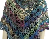 Crochet Poncho, Crochet Shawl, Crochet Shrug, Cape, Ruana, Coverup, Knit Poncho, Knit Shawl, Knit Shrug - Optional Crochet Infinity Scarf