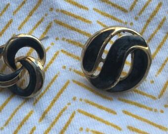 Vintage enamel post earrings