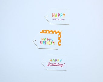 Happy Birthday Gift Tags - 18 pack