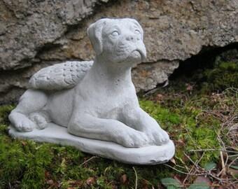 Boxer Dog Statue, Concrete Boxer Dog, Boxer Dog Angel, Dog Statues, Boxer Memorial, Pet Memorial, Cement Boxer Angel, Statues Of Boxers Art
