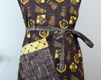 Doctor Who Dalek Full Adult Lined Apron