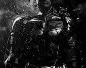 Batman - Original 4x6 or 8x10 Digital Print by Saib Irfan