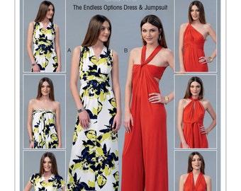 McCall's Pattern MP219/M7384 Misses' Vintage 1970s Endless Options Dress & Jumpsuit Sizes 12-18 New