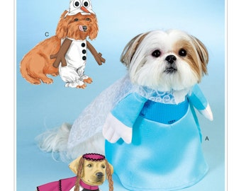 "McCall's Pattern 7211 Disney's Frozen Dog Costumes with Hats Sizes S-XL: 6.5""-16"" Back Length NEW"