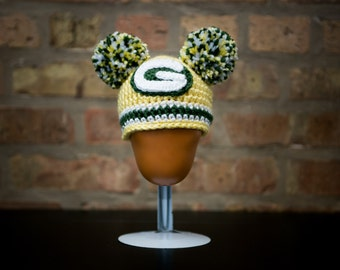 Green Bay Packers Inspired Beanie (Newborn - Toddler Sized) (Made to Order)