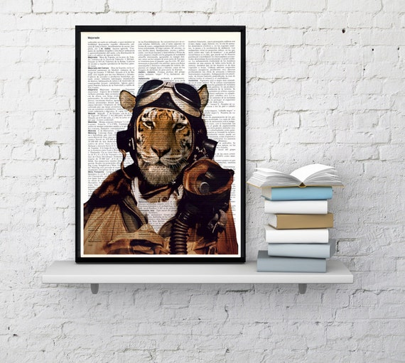 Usaf Wall Decor : Air force pilot tiger wall decor funny animal art