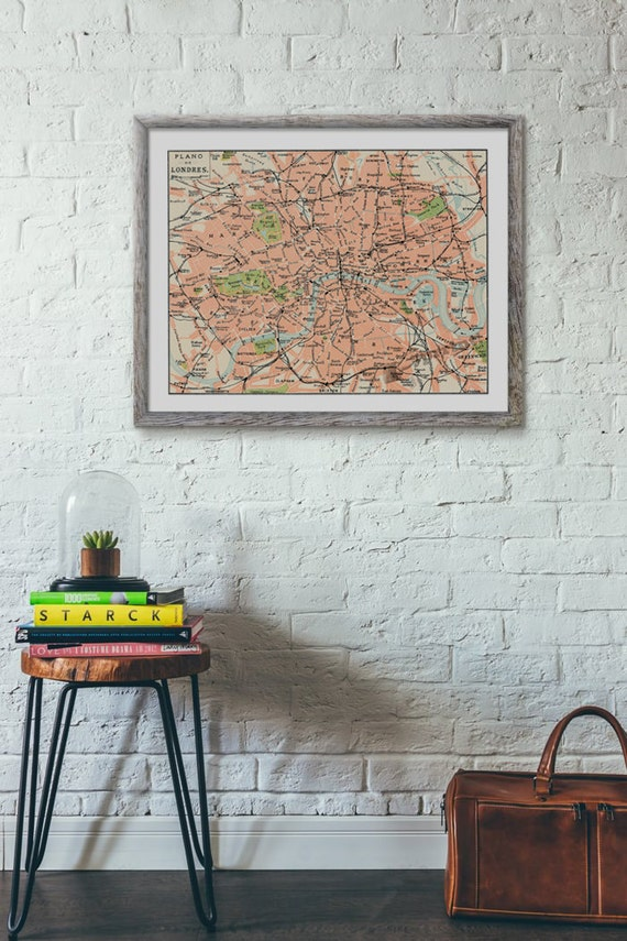 London city map vintage inspired poster ,London map poster, wall art,Vintage city map Giclee city map poster TVH236WA3