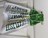 Hanging Hand Towel, All Cotton, St. Patrick's Day, Irish, Erin Go Bragh, Shamrock, Kiss Me I'm Irish