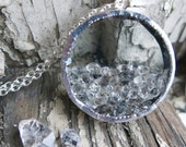 Herkimer Diamond Crystal Shake Necklace April Birthstone Quartz Mother Mom Raw Rough Gemstone Girlfriend Wife Gift