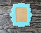 8x10 picture frame, whimsical picture frame, distressed, rustic, baby nursery, painted picture frame (choose shape and color