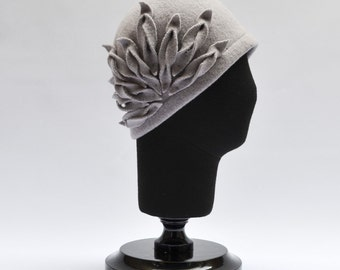 Alicia Gray Wool Hat Felt Knitted Retro 1920s Style Hat