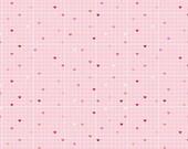 Lovebugs Pink Grid, Doodlebug Design, Cynthia Sandoval, Riley Blake Designs, 100% Cotton Fabric, C5053-PINK