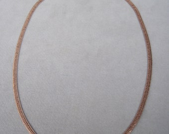 """Fantastic 5mm Wheat Pattern 24"""" Rose Gold Necklace"""