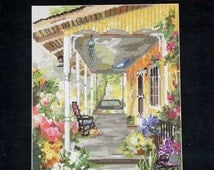 Marty Bell Counted Cross Stitch Pattern Chart PATRICIA'S PORCH Adaptation By Cheryl Corley - By Pegasus Publication