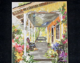 Marty Bell | Counted Cross Stitch Pattern | Chart | PATRICIA'S PORCH | Adaptation | Cheryl Corley | Pegasus Publication