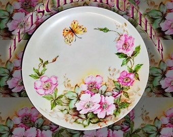"""Hutschenreuther 9.5"""" Plate with Butterfly"""