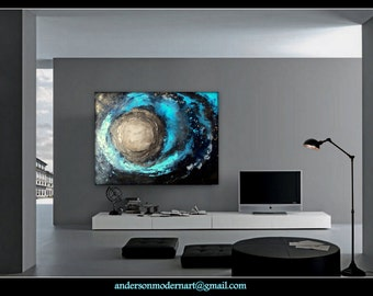 "ON SALE Large Wall Art Modern Original Painting Contemporary  Artwork "" Zephyr ""  by Holly Anderson Ships Free within the USA"